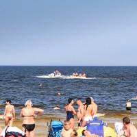Przejażdżki na bananie nad morzem